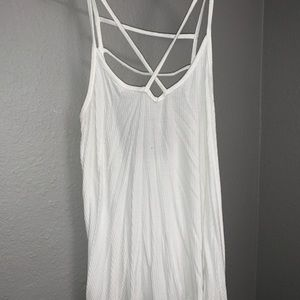 White Hollister Tank